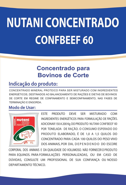 Nutani Concentrado ConfBeef 60 - Nutani