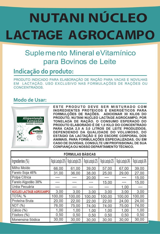 Nutani Núcleo Lactage Agrocampo - Nutani