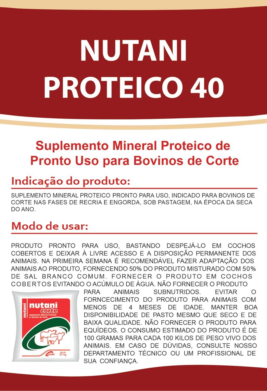 Nutani Proteíco 40 - Nutani